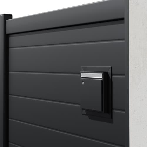Portail alunox avec boîte aux lettres intégrées
