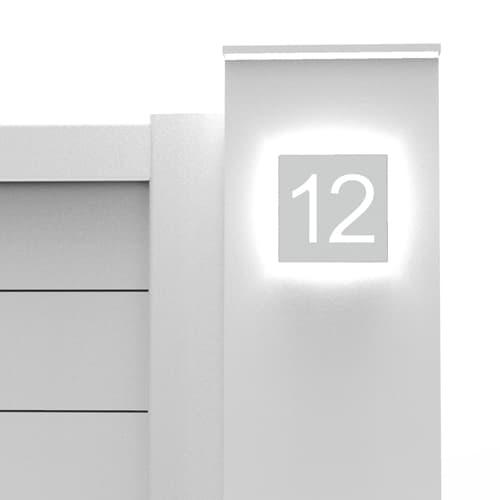 Portail alunox avec numéro rétro éclairé