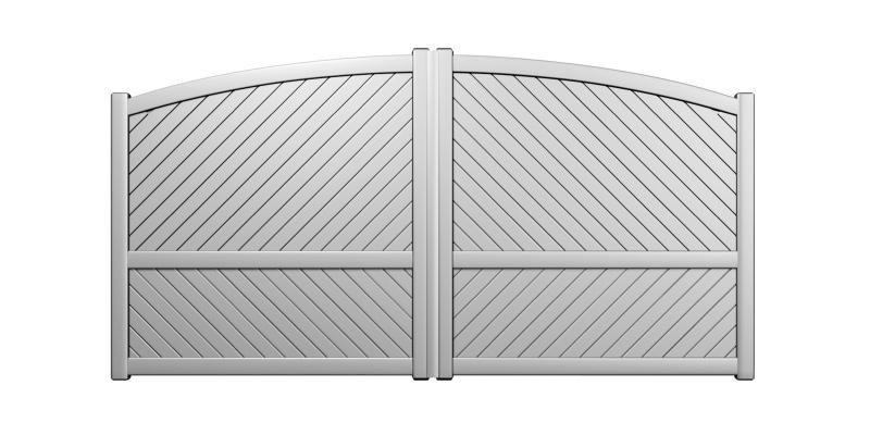Elmer portail battant aluminium chapeau de gendarme