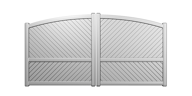 WEISSHORN : Portail classique alu forme incurvée