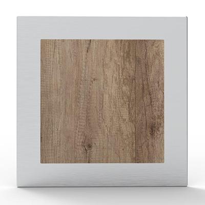 Portail à décoration Alunox ton bois Chêne