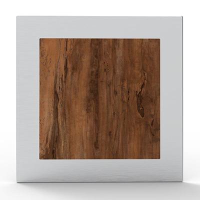Portail à décoration Alunox ton bois Wengé