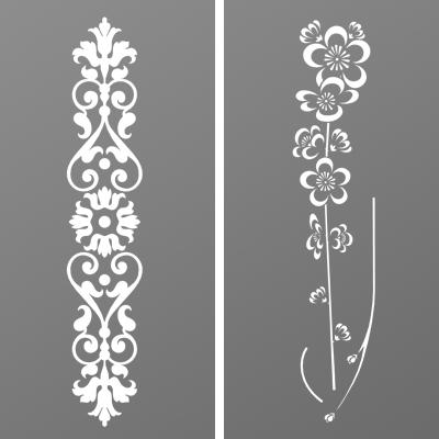 Tôle découpe laser motif Fleurs pour portail