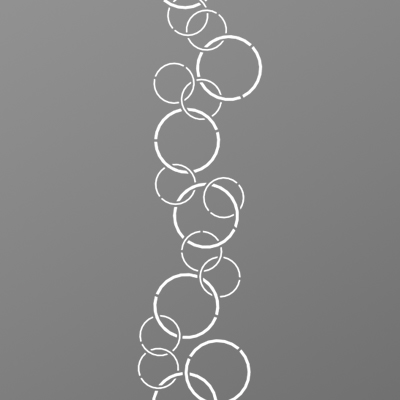 Tôle découpe laser motif rond pour portail