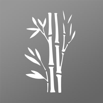 Tôle découpe laser motif bambou pour portail