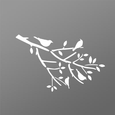 Tôle découpe laser rameau oiseaux pour portail